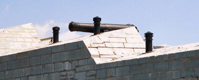 Photo of a Fort Henry cannon