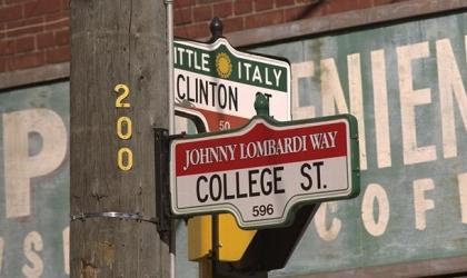 Street signs in Little Italy