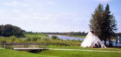 A teepee overlooking the Moose River